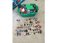 Box of lego and Lego men