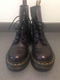 Dr. Martens metallic purple boots, size uk 5 practically new.
