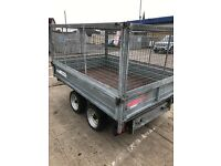 Caged tipping trailer 8 x5