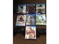 PS4 slim & 7 games like new