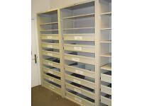 Office shelving, with extending shelves,