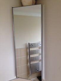 Mirrored corner bathroom cabinet