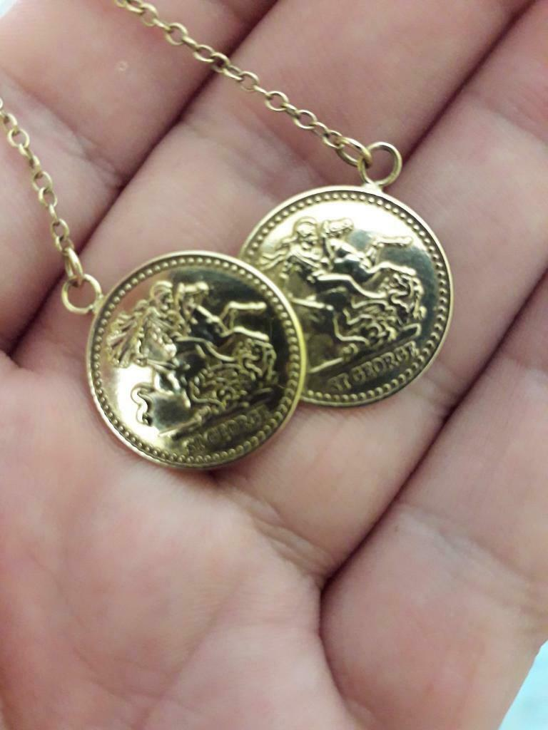 f3493890b8954 St George 9ct gold coin necklace   in Knightswood, Glasgow   Gumtree