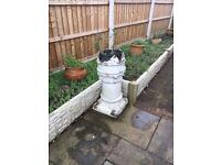 3 x old style chimney pots