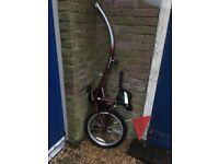 Tag a long bike trailer /child's bike