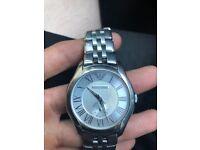 Men's Silver Stainless Steel Armani Watch