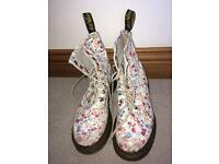 Limited addition floral doc martens