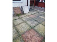 Patio slabs 2x2 Free to first person who can pick them up