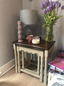 Nest of tables, shabby chic with Annie Sloan.