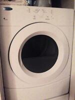 Like new, whirlpool dryer with warranty.