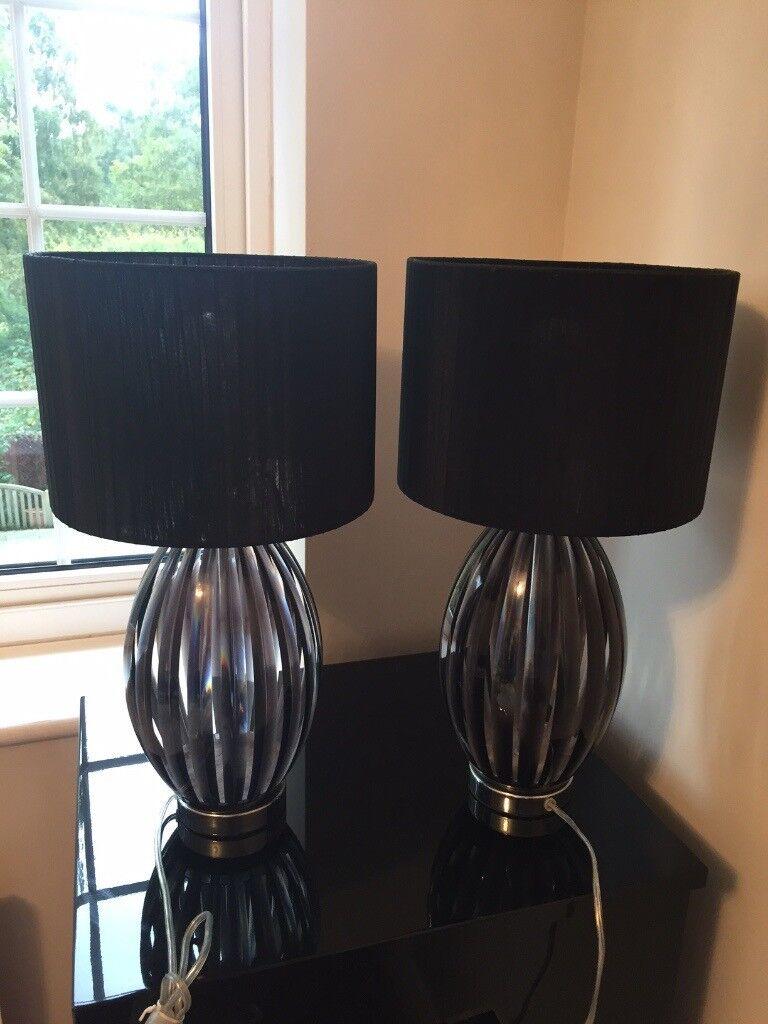 Black Table Lamps (Pair)