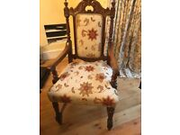 Antique Victorian dinning table and 8 chairs