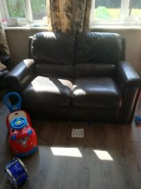 2x 2 seaters sofas with 1 recliner chair and footrest