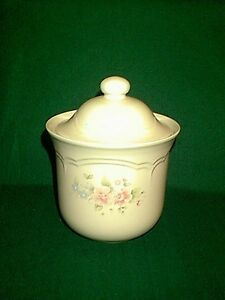ONE PRETTY PFALTZGRAFF TEA ROSE CANISTER THE SMALLEST SIZE IN SET