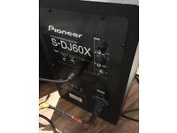 2 x S - DJ60X Pioneer active studio monitors