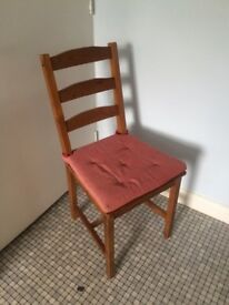 4 Wooden Chairs - indoor or outdoor - great condition- perfect for garden or kitchen