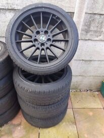 Bmw 18'' Black Alloys Style 32 NON STAGGERED Can Sell Single Can Post Part Exchange Welcome