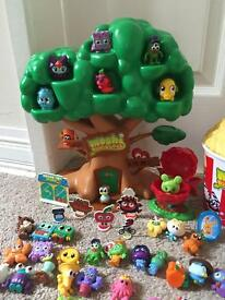 Huge Collection of Moshi Monsters inc. Treehouse, 'Slopcorn' tub & Limited Edition Moshis – VGC