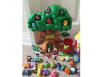 Huge Collection of Moshi Monsters inc. Treehouse, 'Slopcorn' tub & Limited Edition Moshis – VGC