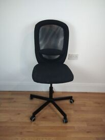 Office Chair Black Height Adjustable Delivery available for small fee