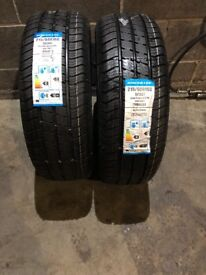 2 x 215 60 16C GOODRIDE M + S COMMERCIAL NEW TYRES