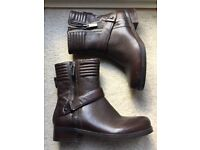 Marks and Spencer's chocolate brown leather ankle boots in size 3.5 (brand new no tags)