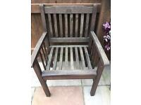 Wooden garden chairs x5