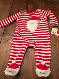 Baby Santa Suit and Hat, 3-6 months