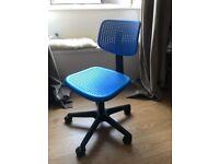 Ikea Alrik Swivel Chair- Blue and Black