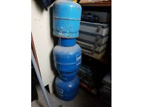 3 x Blue Calor Gas Bottles
