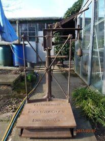 Vintage cast iron platform scales.