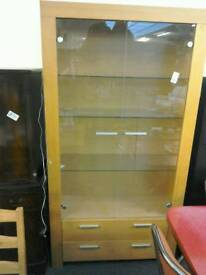 Modern glass display cabinet #33874 £35