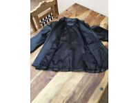 Ladies fitted blacke leather jacket size 14
