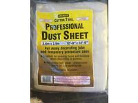 Stanley Cotton Twill Dust sheets x3