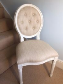 White dressing table chair shabby chic style