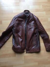 Brown cafe racer jacket medium