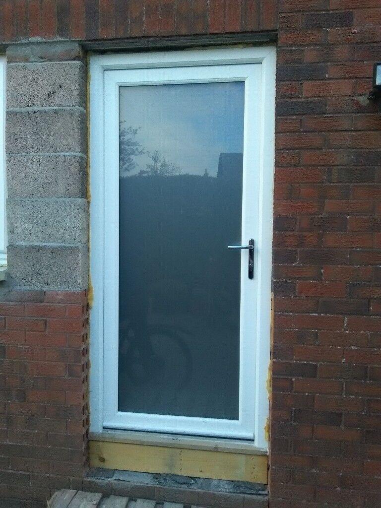 Upvc Exterior Door Opaque Glass Nearly New In Roslin