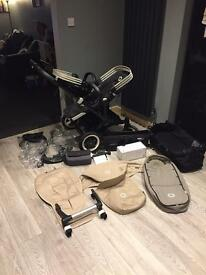 Bugaboo donkey twin with loads of extras