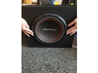 """12"""" sub and bass box and amp"""