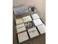 PlayStation 1 Console, PLUS 9 Games + 1 Controller PLUS 2MB Memory Card