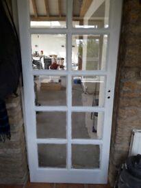 DOOR EXTERNAL SOLID MAHOGANY 10 LIGHT DOUBLE GLAZED