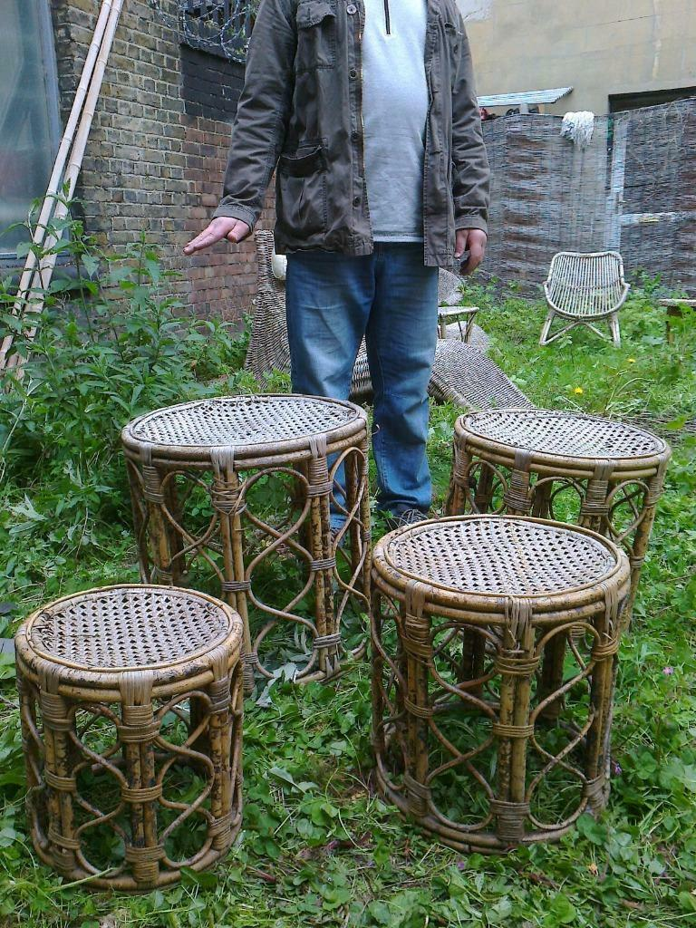 Vintage set of bamboo rattan garden furniture four for Furniture xpress bethnal green