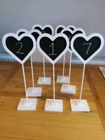 X9 wedding table number chalk boards