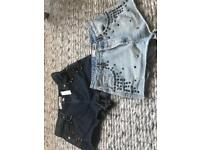 New topshop shorts size 10