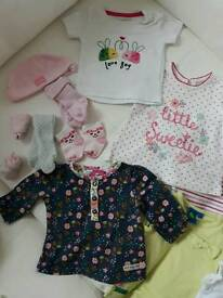 Lovely baby girls bundle 0-3 months !VGC 35 +
