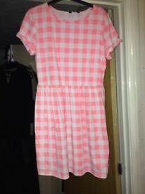 Size 12 Pink checkered dress