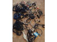 Studio cables (40+ Assorted wires etc)
