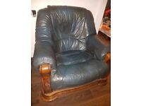 Antique Real Wood Armchair For Sale