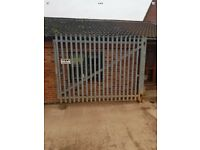 Palisade security galvanised gates