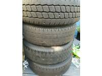 Vw t5 steelies with tyres x4